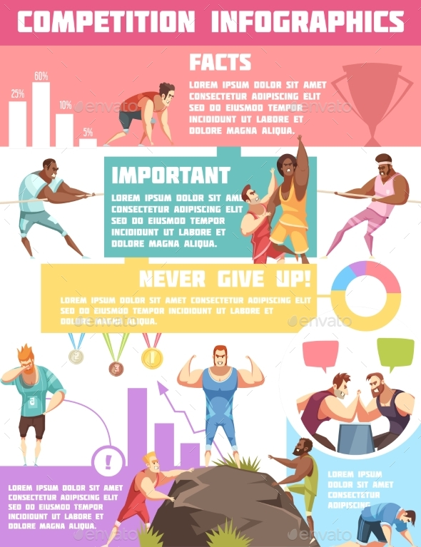 Sports Tournaments Infographic Poster - Sports/Activity Conceptual