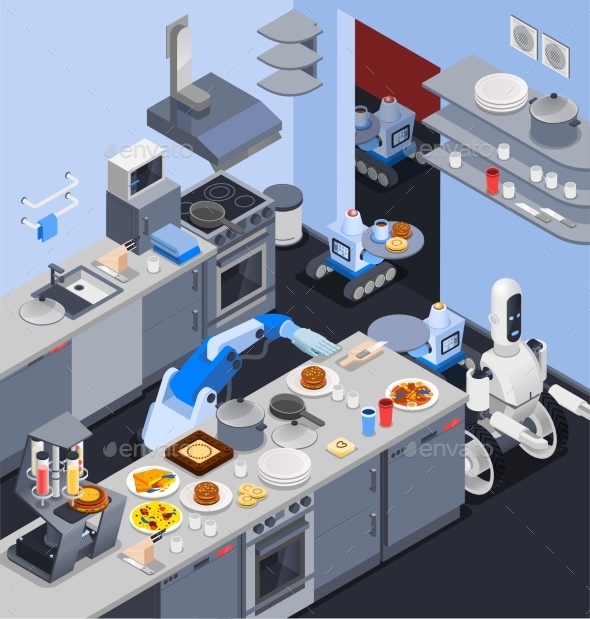 Robotic Kitchen Maid Composition - Man-made Objects Objects
