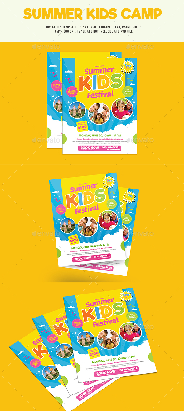 Summer Kids Camp Flyer - Events Flyers