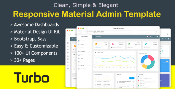 Image of Turbo Material Admin Dashboard - Bootstrap Admin Template
