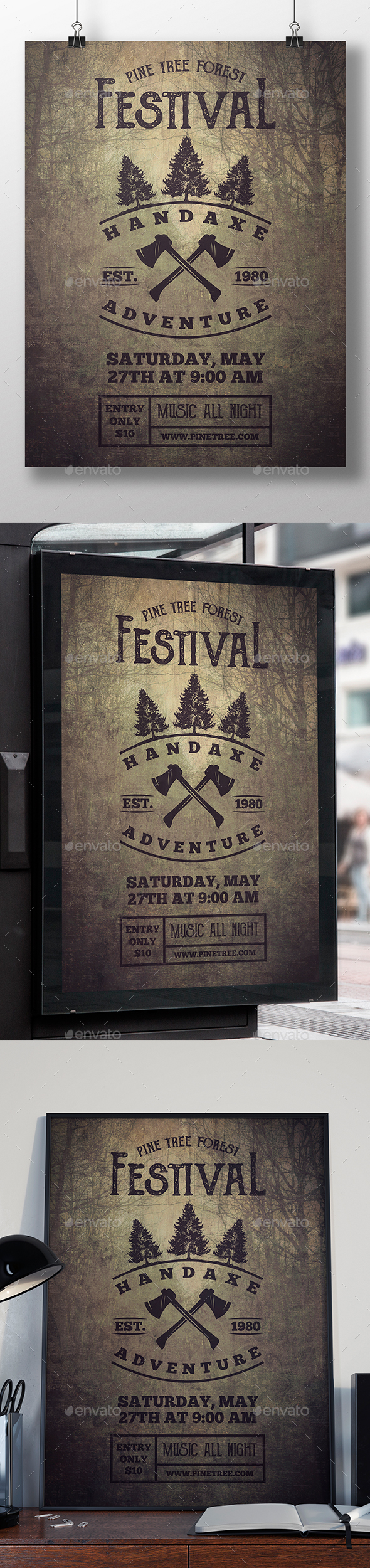Hand Axe Flyer Template - Miscellaneous Events