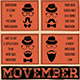 Movember Flyer Template V1 - GraphicRiver Item for Sale