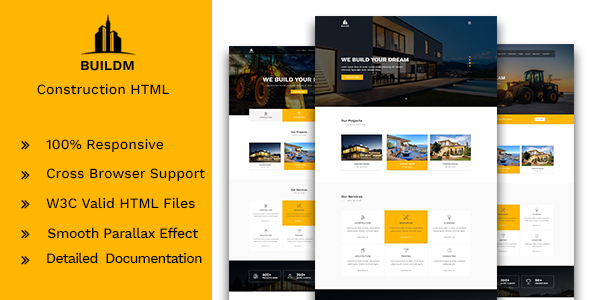 Buildm – Construction HTML Template