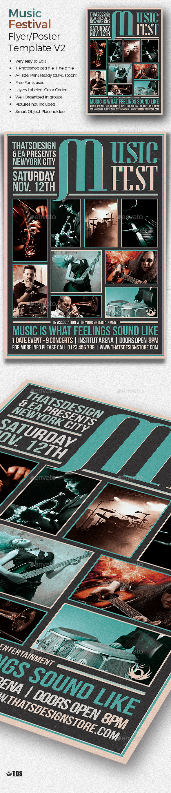 Music Festival Flyer Template V2 - Concerts Events