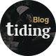 Tiding Minimal Blog/Magazine PSD Template Nulled
