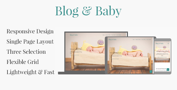 Blog & Baby - Responsive HTML Template For Baby Blogs - Personal Site Templates