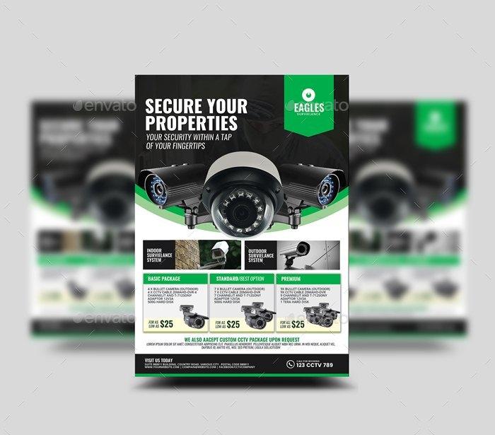 cctv camera shop flyer by artchery