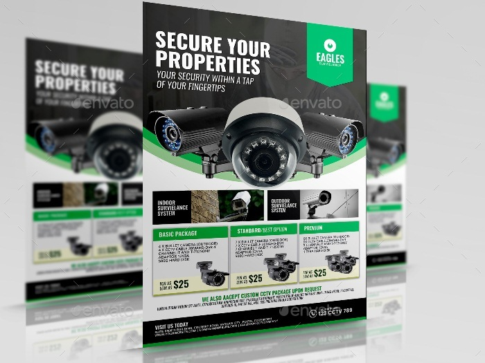 Cctv Camera Shop Flyer By Artchery Graphicriver