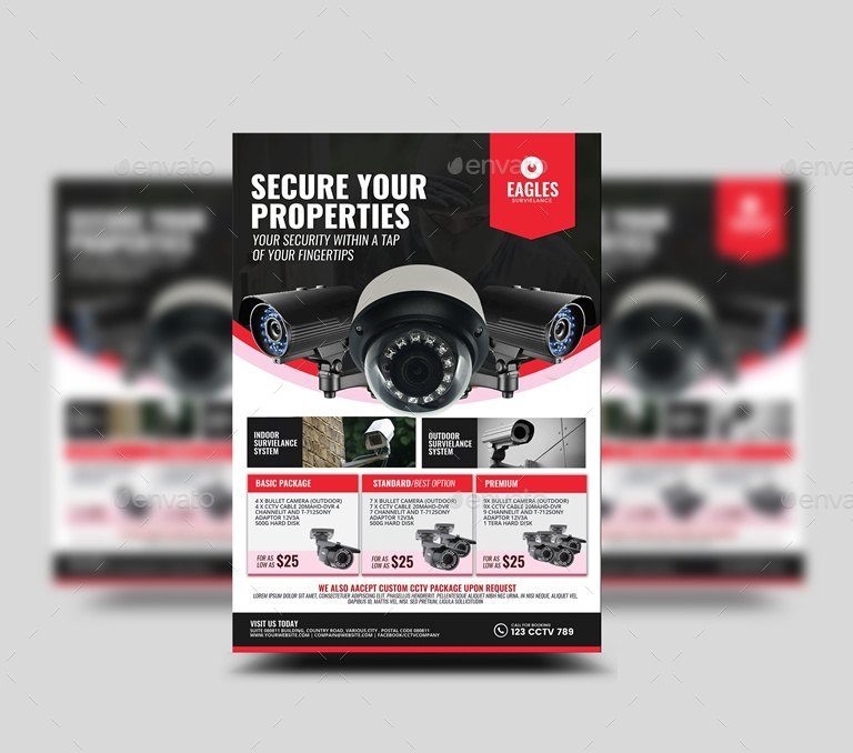 cctv camera shop flyer by artchery