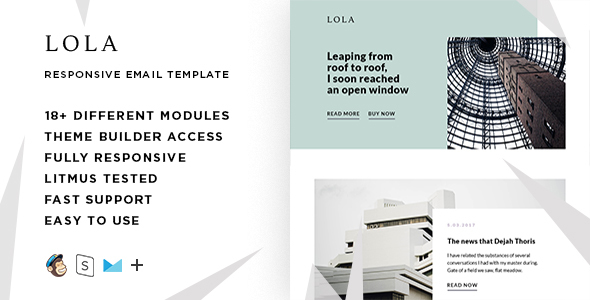 Lola – Responsive Email + StampReady Builder - Email Templates Marketing