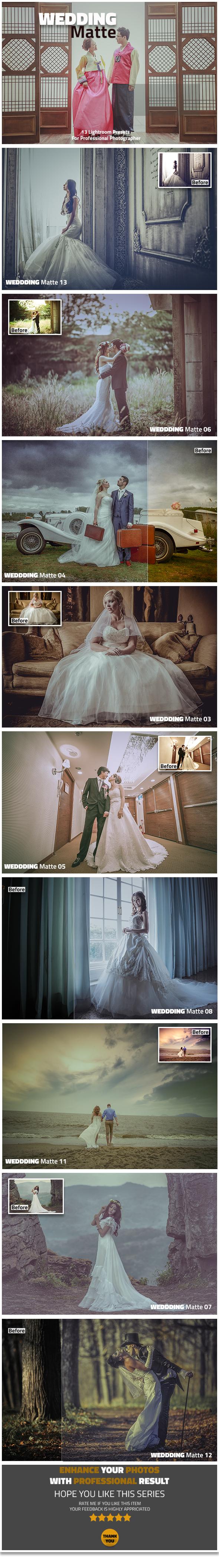 13 Wedding Matte Lightroom Presets - Lightroom Presets Add-ons