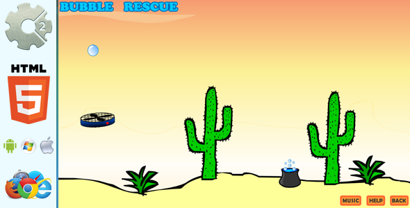 Bubble Rescue - Educational HTML5 Game (CAPX included) - CodeCanyon Item for Sale