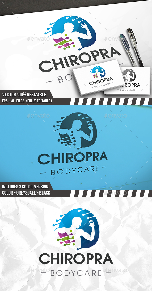 Chiropractic Clinic Logo - Humans Logo Templates
