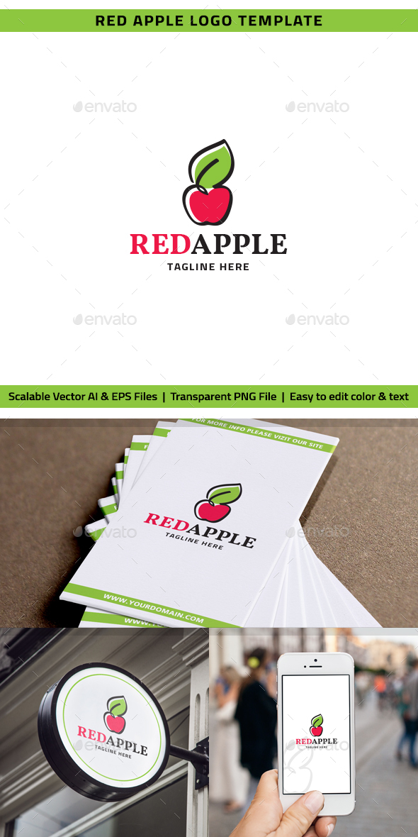 Red Apple Logo - Nature Logo Templates