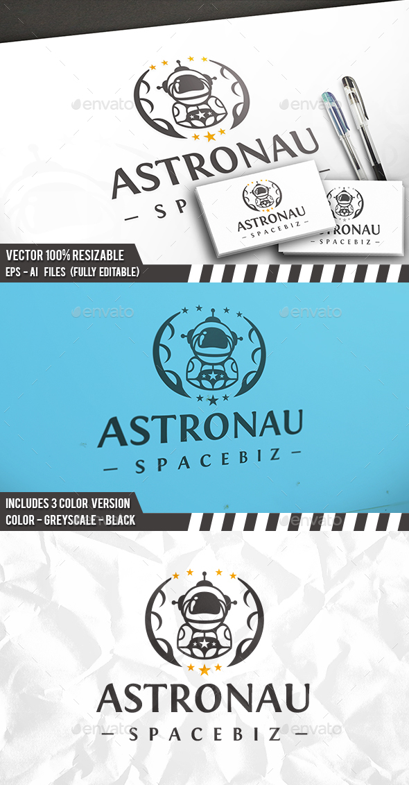 Astronaut Design Logo - Humans Logo Templates