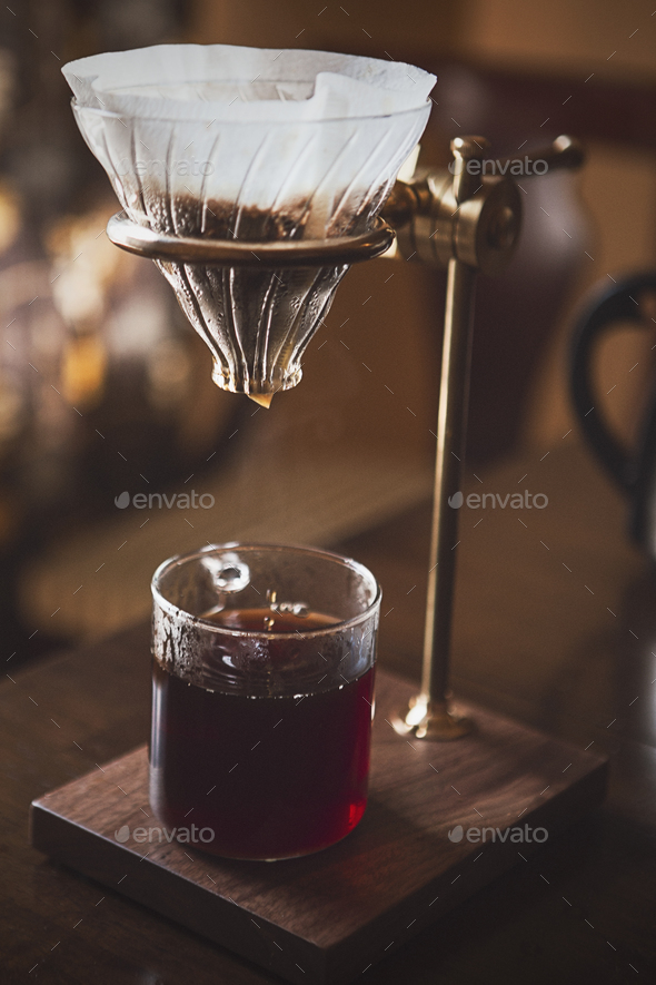 Making Pour Over Coffee - Stock Photo - Images