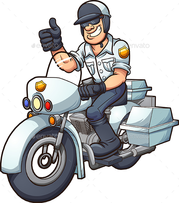 Motorcycle Cop - People Characters