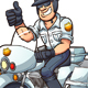 Motorcycle Cop - GraphicRiver Item for Sale