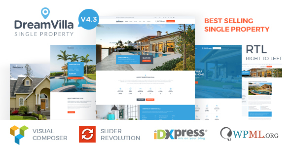 DreamVilla - Single Property Real Estate WordPress Theme - Real Estate WordPress