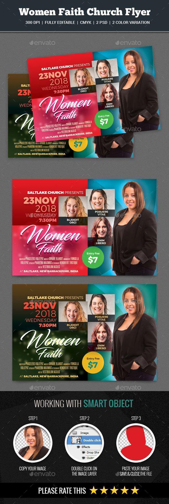 Women Faith Church Flyer - Church Flyers