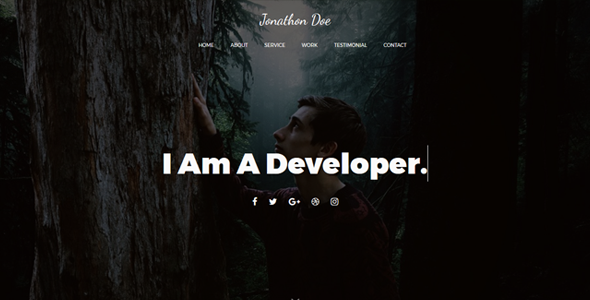 Loster – One page Personal Portfolio Template