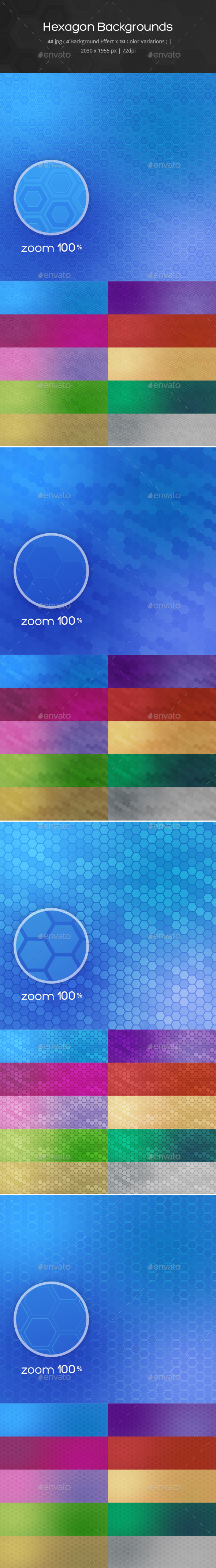 40 Hexagons Backgrounds - Backgrounds Graphics