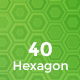 40 Hexagons Backgrounds