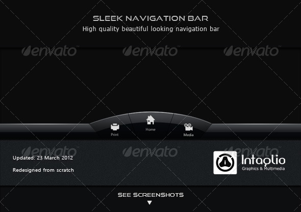 Sleek Navigation Bar - Navigation Bars Web Elements