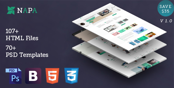 NAPA | Multipurpose & E-commerce HTML Template | 100+ Pages