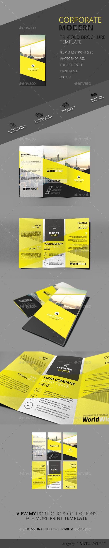 Corporate Modern Tri-Fold Brochure Template - Brochures Print Templates