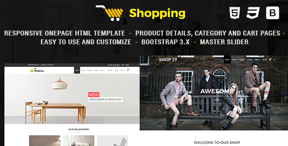 Shop - Responsive eCommerce HTML Template - Creative Site Templates