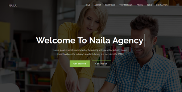 Naila - One Page MultiPurpose Template - Corporate Site Templates