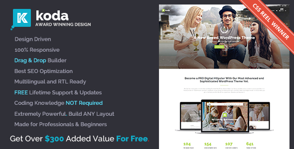 Koda - Creative Multi-Purpose Theme for Beginners and Professionals - Business Corporate