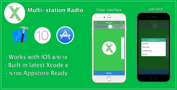 Streamie | Multi-station radio app - CodeCanyon Item for Sale