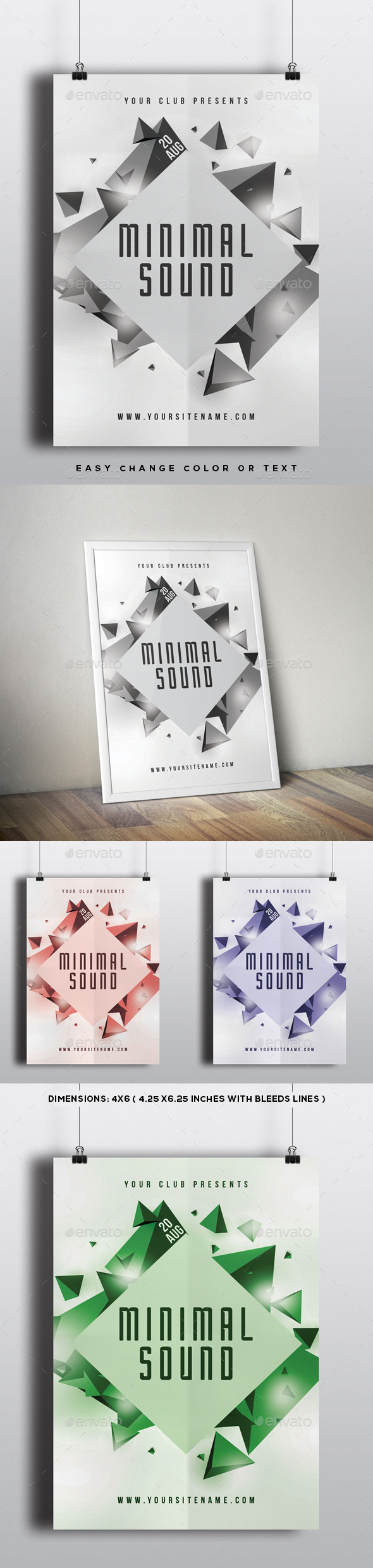 Minimal Sound Modern Flyer Template - Clubs & Parties Events