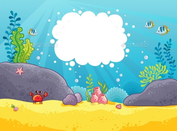 Sea Background - Animals Characters