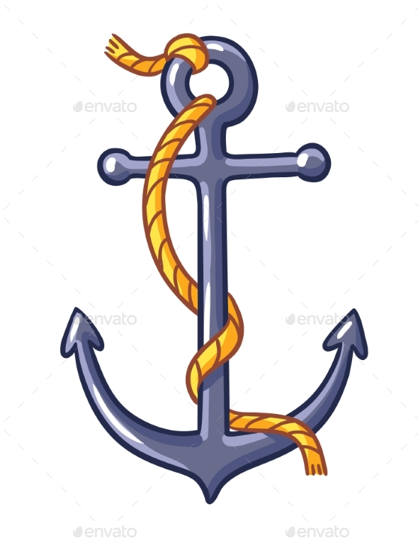 Anchor on a White Background - Miscellaneous Vectors