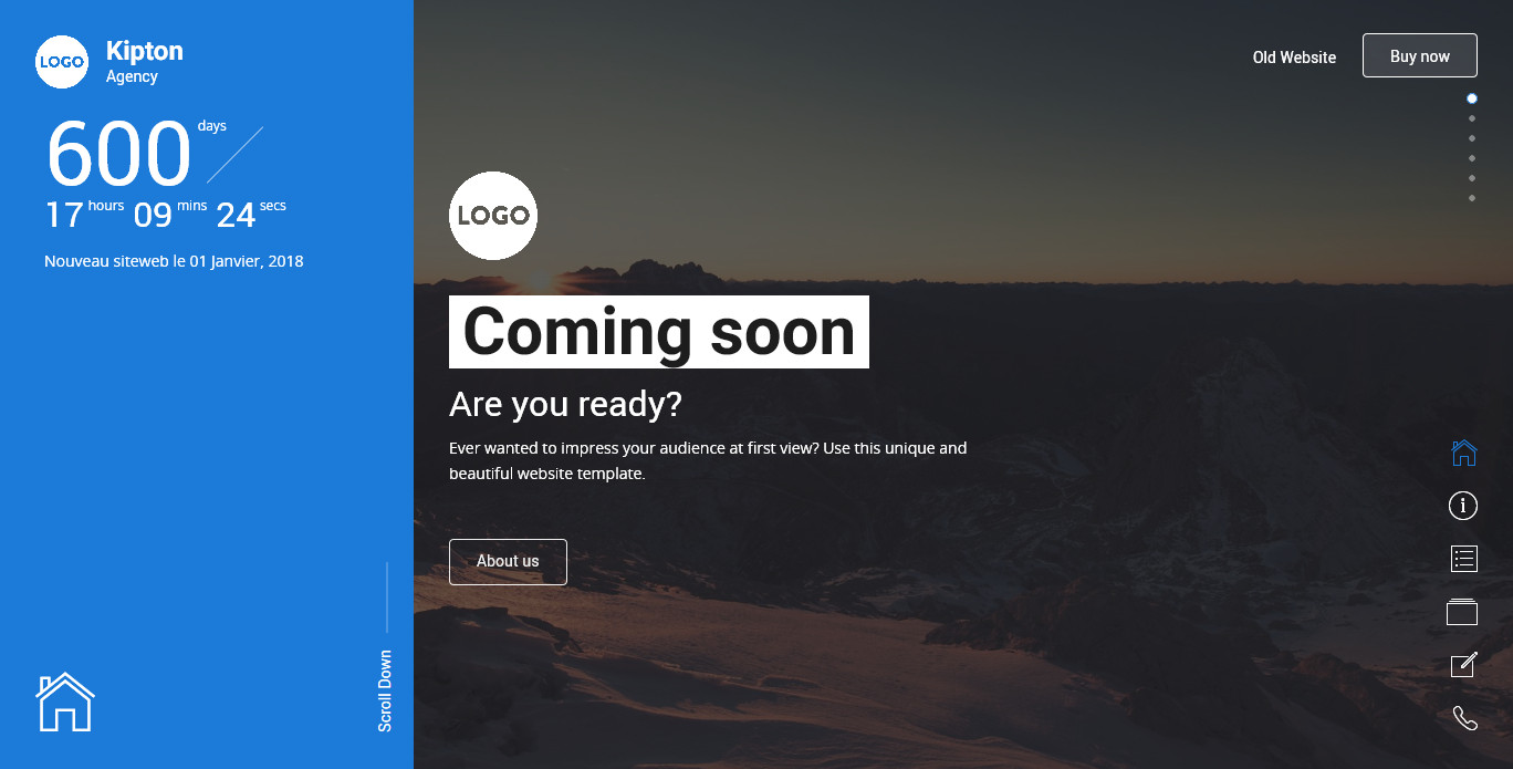 Kipton - Beautiful and Creative Website Template for Coming Soon ...