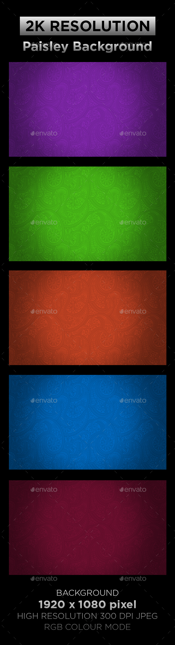Paisley Background - Backgrounds Graphics