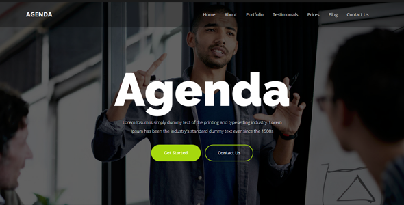 Agenda - One Page Parallax Template - Creative Site Templates