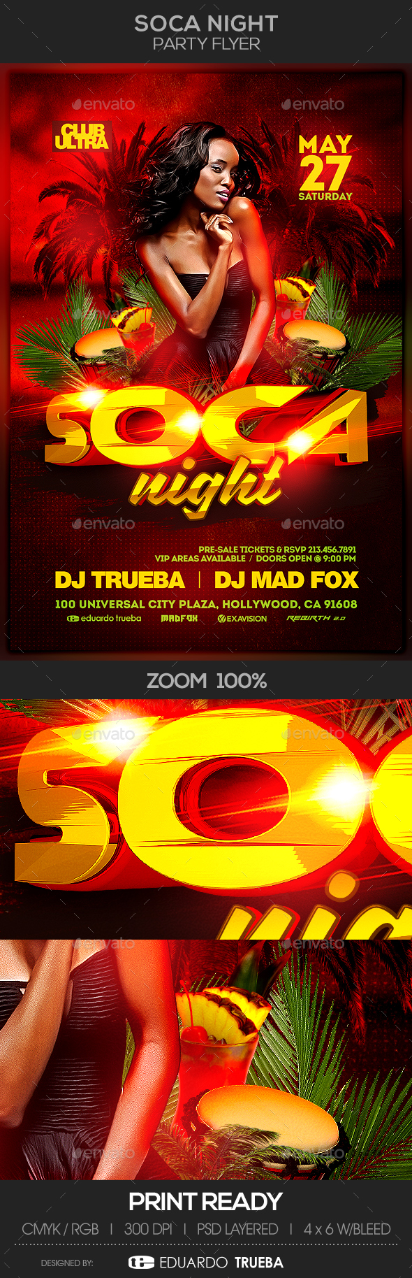 Soca Night Party Flyer - Clubs & Parties Events