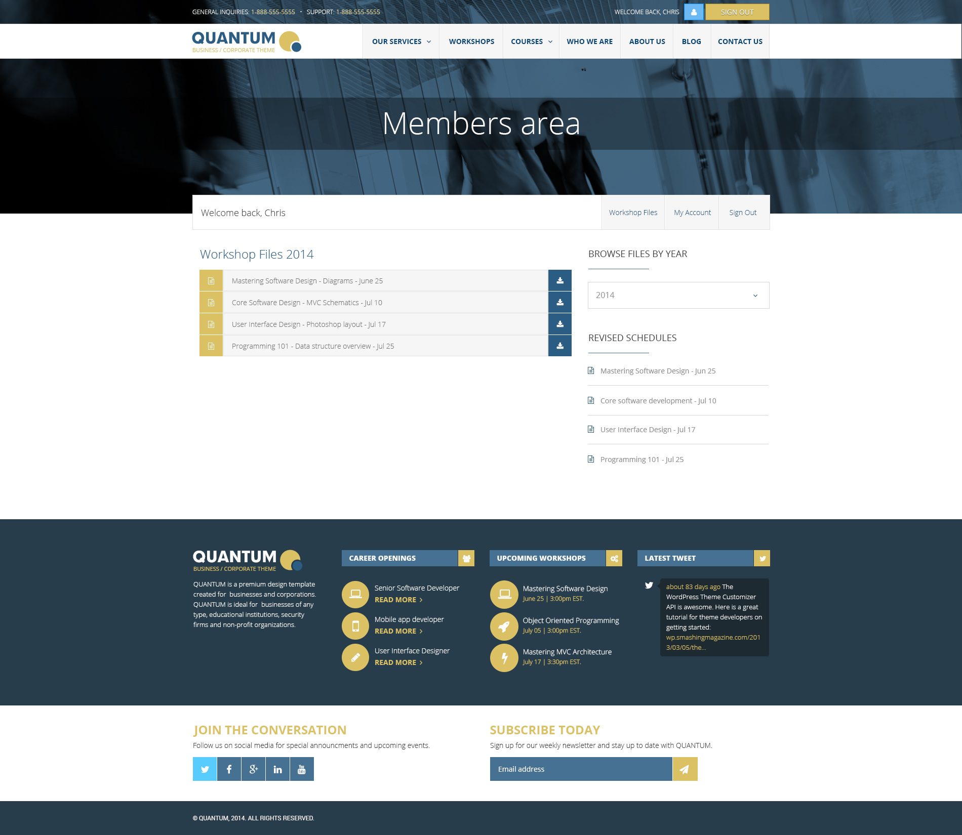Quantum Responsive Business Wordpress Theme By Microthemes