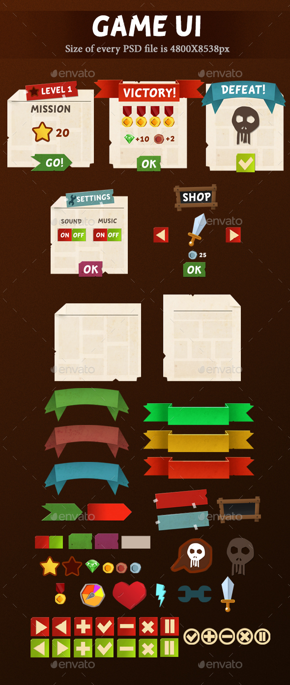 Game UI - User Interfaces Game Assets