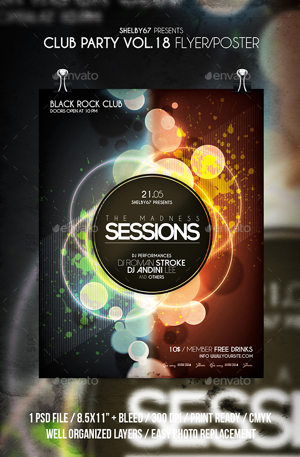 Club Party Flyer / Poster Vol 18 - Clubs & Parties Events