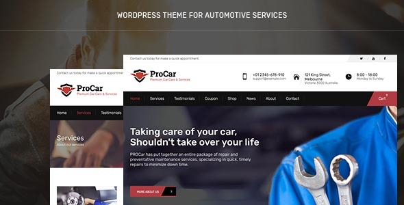 PROCar - Car Service & Workshop WordPress Theme - Business Corporate