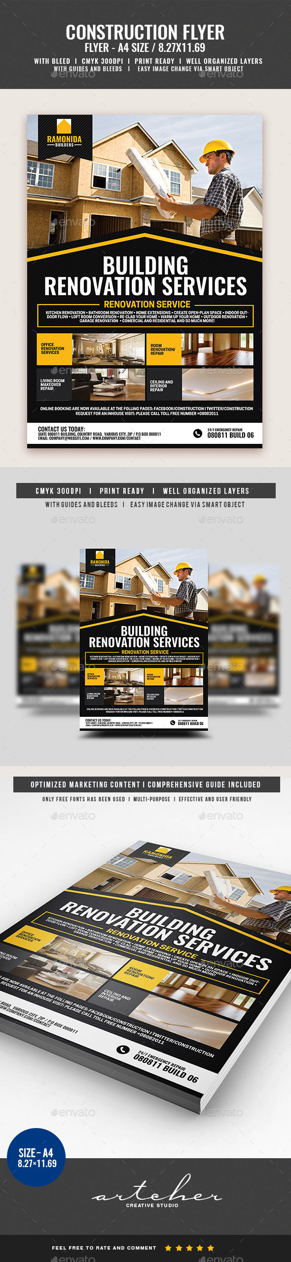 Home Renovation Service Flyer - Corporate Flyers