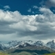 Snowy Mountains and Clouds - VideoHive Item for Sale