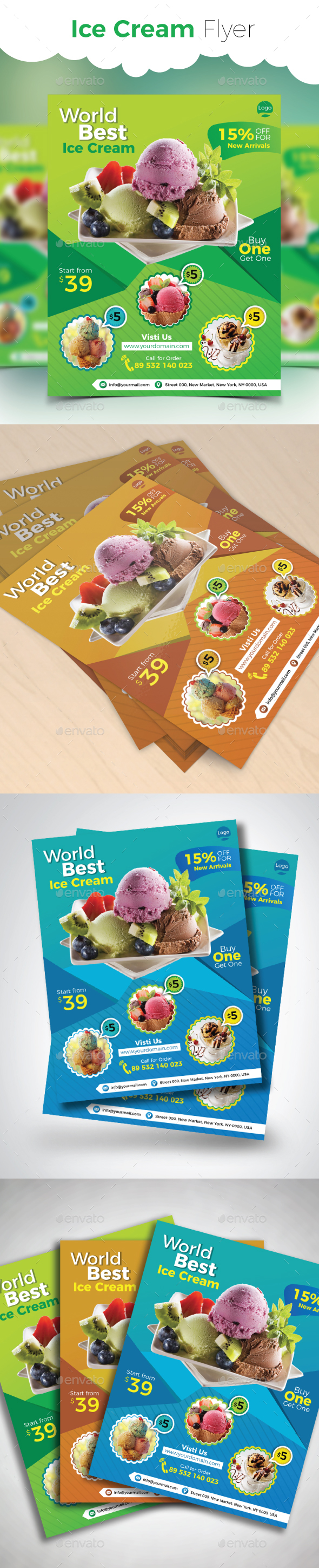 Ice Cream Flyer - Commerce Flyers