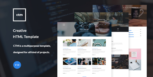 CTM – Creative HTML Template