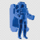 Astronaut Floating HUD - VideoHive Item for Sale